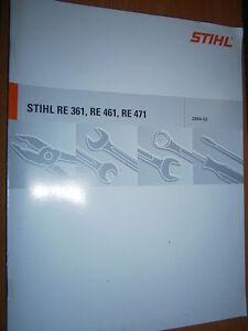Stihl Nettoyeur Haute Pression Re361 Re461 Re471 Manuel Atelier Ebay