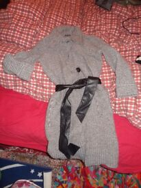 Long pure wool M&S cardi 16