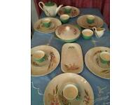 Vintage china J&G Meakin 1950s dinner tea service with pot