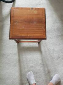 vintage antique style coffee table brown
