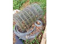 Fence roll and wire