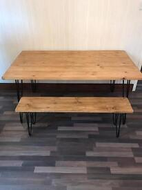 Dining Table & Bench Brand New