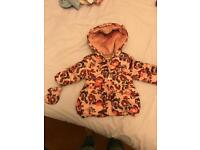 9-12 months girls warm winter coat with mittens