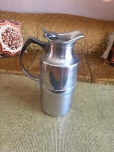 German silver insulated coffee urn- vintage $15