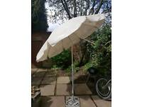 Garden parasol with metal stand...