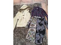 Ladies Size 12 fur lined hood Cardi, size 12 shirt & size 14 stretchy tunic top. VGC. £3. Can post.