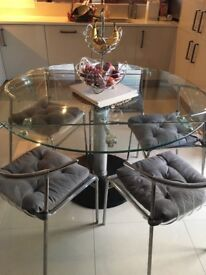 Calligaris Extendable Glass Dining Table