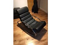 Faux leather rocking chair