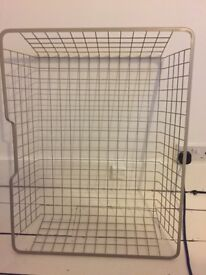 VERY LARGE IKEA METAL BASKETS 75CM X 58CM- CAN FIT INSIDE PAX WARDROBES