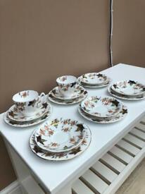 Vintage Bone China Tea Plates/Saucers/Cups