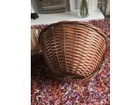 New large rattan effect hanging baskets