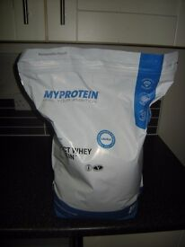 Whey impact protein, 'Myprotein', Flavour natural, 5KG bags, July 2017 date £28 each x