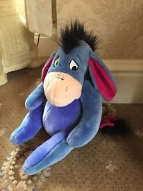 Large 14 Inch Eeyore Soft Toy.