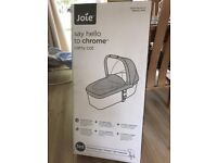 Joie Chrome Carry Cot. Black. Brand New. Box Still Sealed.