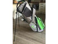 Golf (nike) grey and green stand bag hardly used