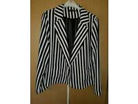 Fitted size 14 stripped jacket womens