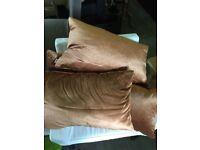 Four rectangle copper Kandola cushions