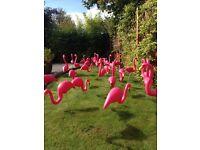 Garden Flamingo x 30 ideal for birthdays 27cm tall