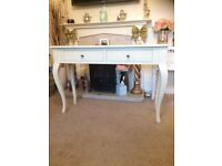 Laura Ashley Large cream 2 drawer console hall table