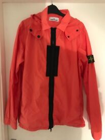 Large Stone island lightweight coral jacket with detachable hood