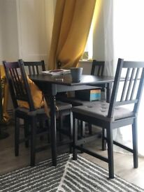Table and four chair/ Ikea