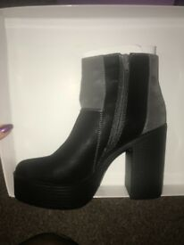 Platform ankle boots new in box