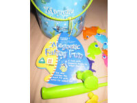 ELC MAGNETIC FISH GAME - complete with free puzzles (age 3+) PERFECT CONDITION - suit boy or girl