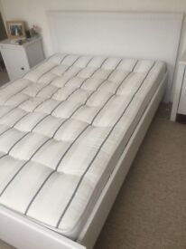 IKEA Double Bed - Brusali white with Mattress