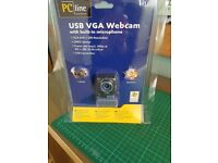 PC Line - USB VGA Webcam with Built in Microphone