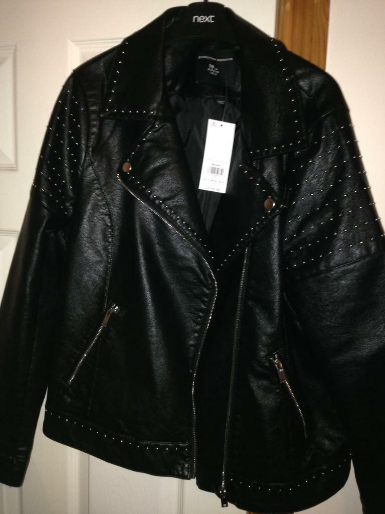 005b2ec25dc Ladies Dorothy Perkins biker jacket size 18 new