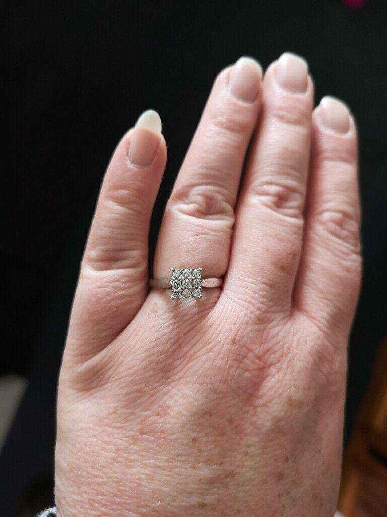 White gold, 1/3 carat diamond ring | in Houghton Le Spring, Tyne and ...