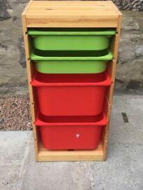 Ikea pine Trofast toy storage