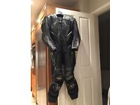 Wolf one piece motorcycle leathers U.K 40 w/ alpinestars smx plus boots U.K 8