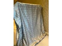 Luxury silk double lined curtains for sale