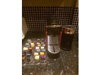 Krups Nespresso Pixie Red Coffee machine with aeroccino