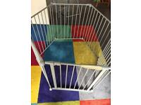 Play pen for baby, dog or puppy sturdy metal frame with gate