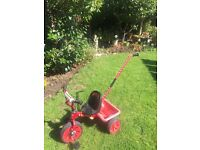 Toddlers trike with parent handle