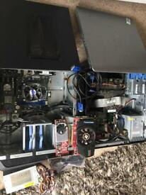 Computer towers, graphics cards and bits