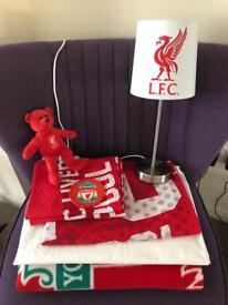 Liverpool F C Bed Set/Lamp Etc