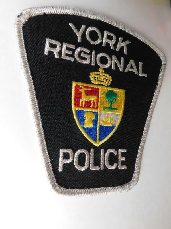 YORK REGIONAL POLICE VINTAGE PATCH BADGE ONTARIO CITY COAT OF ARMS CANADA