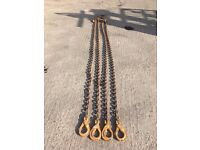 Lifting Chains, Heavy Duty, 4 Leg, 6.7 Ton, With Shorteners