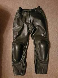 Leather Motorbike jeans