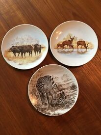 3 x Poole Pottery animal plates