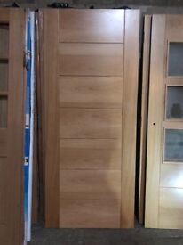 17 various styles of oak interior doors