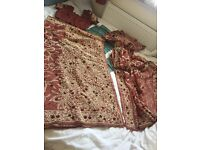SAREE ASIAN/INDIAN WITH LARGE SCARF & BLOUSE PARTYWEAR