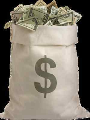 BAG OF MONEY GLOSSY POSTER PICTURE PHOTO currency dollars bills rich 2363 - Bag Of Money