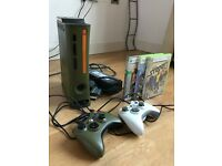 An excellent condition Xbox 360 halo 3 green and gold console. Limited edition console. it's perfect