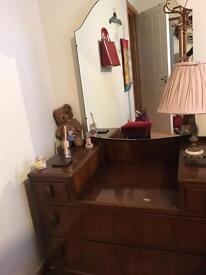 Stunning vintage wooden dresser