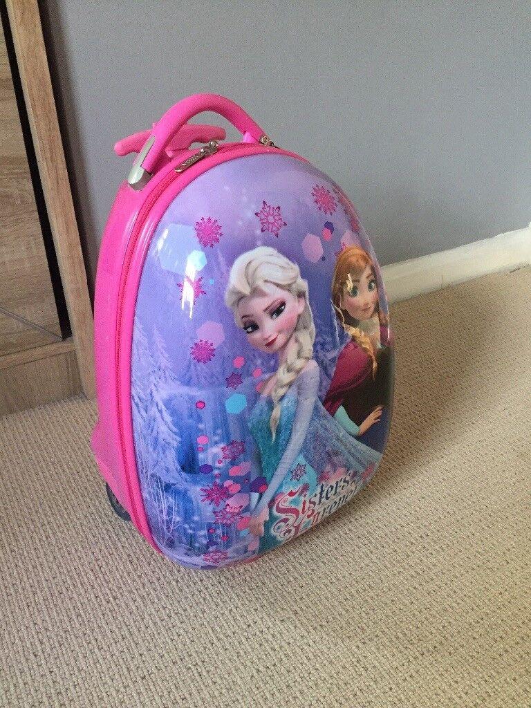 Girl travel luggage