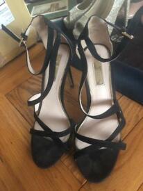 Size 4 miss selfridge black heels